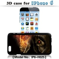 for Apple iphone 6 6G snap-on 3D fire skull car hard plastic back phone case for iphone 6 6G