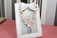 2014 new fashion children girls 12pcs frozen necklace frozen bracelet with pendant girl pearl necklace 4 designs mix top quality