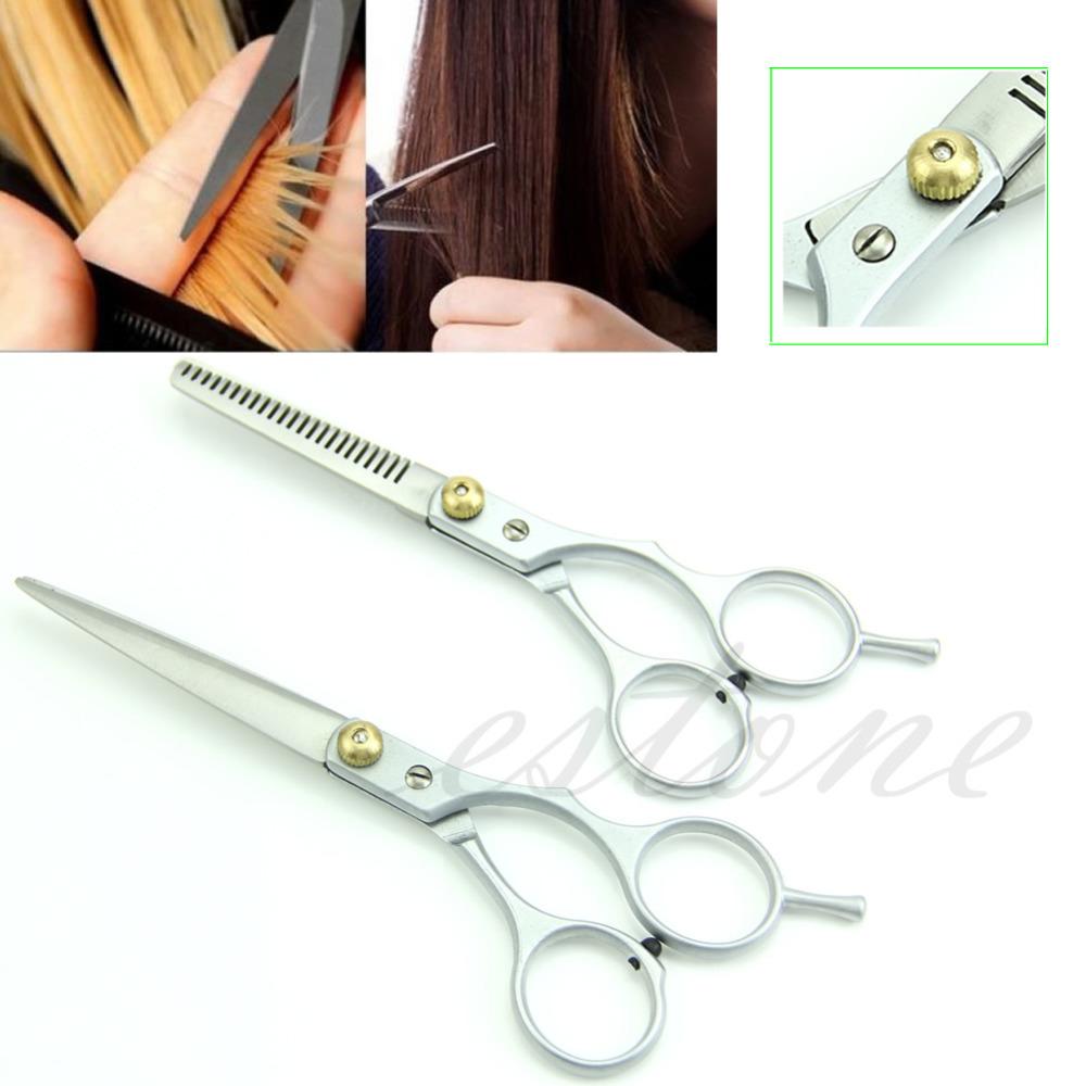 U119 Free Shipping 2 X Professional Barber Hair Cutting Thinning Scissors Shears Hairdressing 1 Set(China (Mainland))