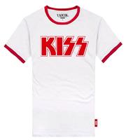 YAOCOK Shake KISS cotton lovers rock t-shirt men's and women's T-shirt