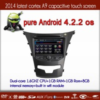 New hot selling Multilingua Menu Capacitive Android 4.2.2 Car Autoradio GPS for Ssangyong korando 2014 with dual core