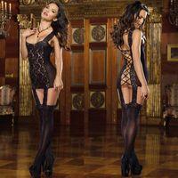 Women's Sexy Erotic Lace Lingerie Dress Sleepwear Underwear G-string