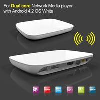 Dual Core Android 4.2 Media Player TV Box 1GB DDR3 RAM 4GB Nandflash Internet Streamer XBMC Youtube White