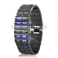 "Binary LED Watch ""Blue Samurai 12 Blue LEDs"