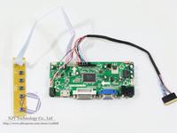 "Free shipping M.NT68676.2A VGA+DVI+HDMI LCD Controller Board Kit for 15.6"" LTN156AT05 LED Panel 1366x768"