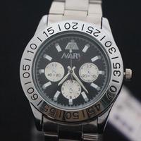 Free shipping Mechanical men's watches waterproof watch Korean fashion imitation of three eye six-pin steel quartz watch