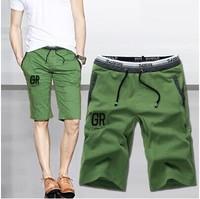 New arrival 2014 Men's Shorts Causual Loose Cotton Rope Shorts 2014 Beand Men Short Plus Size:M,L,XL,XXL,XXXL,3Color Hot Sales