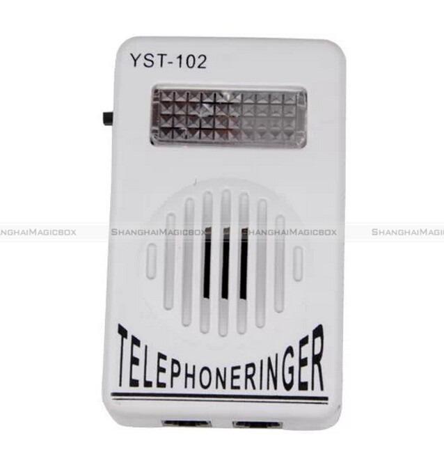 Extra-Loud Phone Telephone Ringer up to 95dB w/ Strobe Light Flasher Bell Ringer 80314301