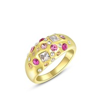 ROXI Genuine Austrian Crystal Fish Ring 18K Gold Plated 100% Hand Made Fashion Romantic Jewelry Luxury Engagement Wedding Ring