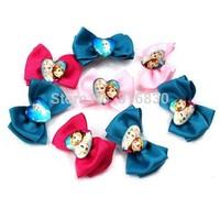 1 Pair Free Shipping 2014 New Kids Frozen Anna Elsa BB Clip Barrettes Girls Duck Hair Clip Cheap Wholesale
