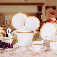 Jingdezhen ceramic tableware 58 bone china tableware fashion quality plate rice bowl plate ceramic set