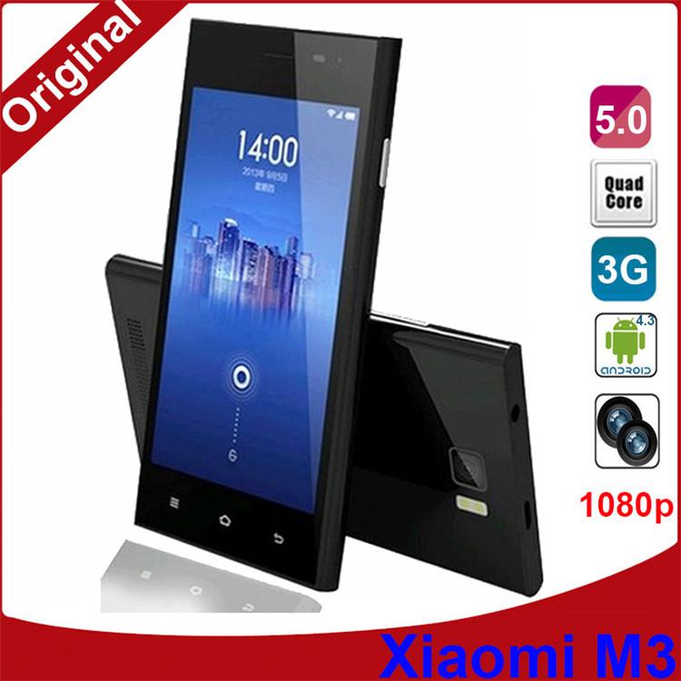 "2G RAM 16G ROM Original Phones Xiao Mi 3 Mobile phone 13MP Camera Quad Core 5.0"" Inch IPS 1920*1080P HD NFC OTG SmartPhone(China (Mainland))"