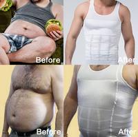 Men's Slimming Body Shaper Belt Men Bodysuit waist and Corset abdomen underwear Less beer belly Sport Vest Shirt Corset