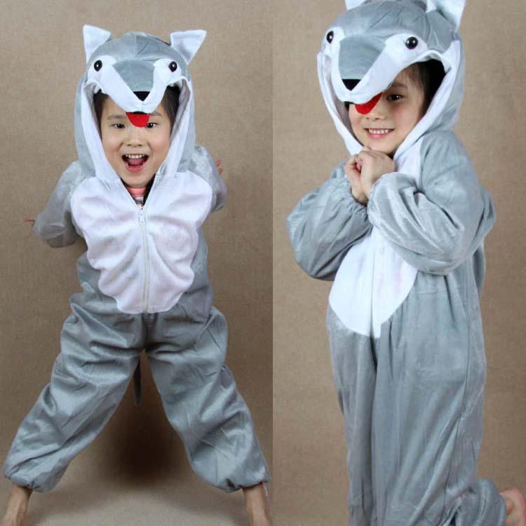 Children's performance clothing costume dress cartoon animals animals wolf costume suit(China (Mainland))
