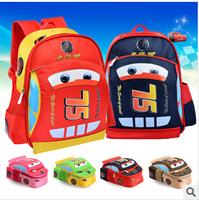 2014 new Free shipping Cartoon Car Children backpack /boys girls schoolbag children's kindergarten primary bag kids backpack
