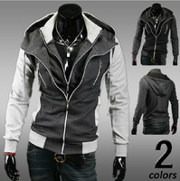 2014 Autumn Winter Men's Double Layer Casual Hoodies Sweater Men's Sports Jacket Hoodies Coat Promotion