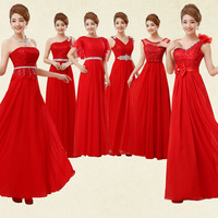 2014 the bride wedding dress wedding red long toast clothing show significantly thinner evening dress for female chorus