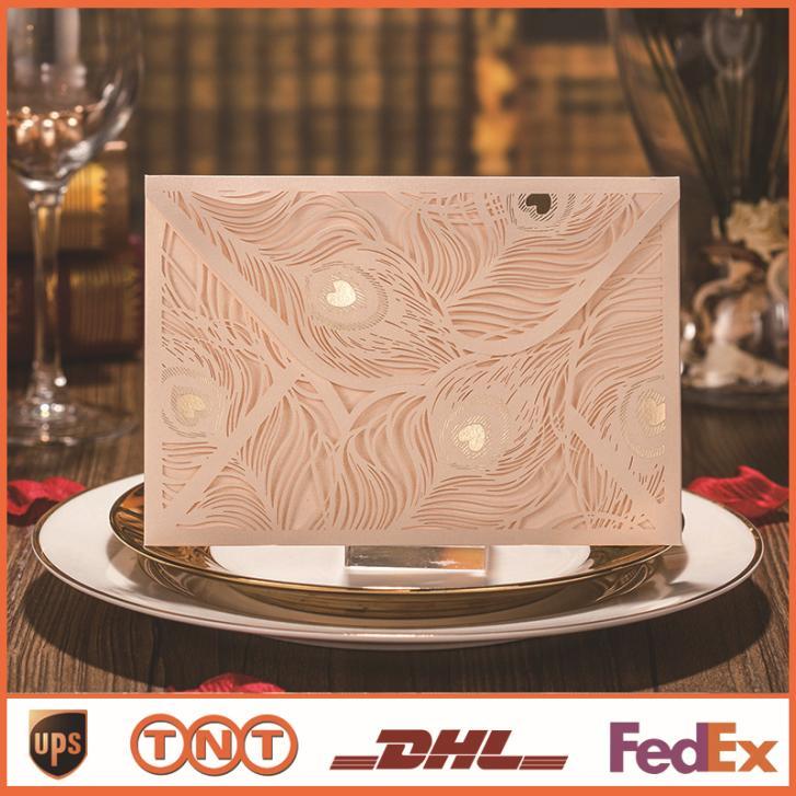 Do convite do casamento personalizar 138 * 185 mm corte a Laser(China (Mainland))