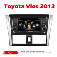 Car DVD for Toyota VIOS with GPS radio USB 1G CPU 3G Host S100 Support DVR 8 inch screen audio video player Free shipping