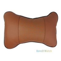 Car Headrest Interior  Automotive Supplies Brown Neck Pillow (NAT0NP12001-CF3)