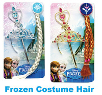 Popular 2014,Frozen Elsa&Anna Ornaments,Frozen Magic Wand Rhinestone Crown Hair Band Hairpiece,Wig Children Party Accessories