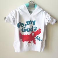 "New 2014 Children Hoodies Cartoon Crocodile Baby Boys' Sweatshirts ""Oh My God!"" Girls Hooded Tops Kids Fall Outerwear"