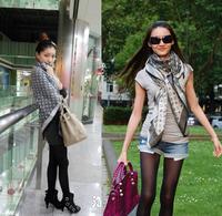 Brand Women's Silk Scarf  Autumn Winter Cotton Shawl Scarves for Ladies 180*70cm