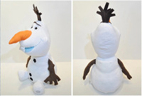 Hot selling 2014 New Arrival Baby frozen Toys 30cm Cartoon lovely Frozen Olaf snow man Plush Toys For Sale Cotton OLAF Toys
