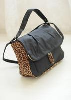 2014  hm leopard print rivet flip Women messenger bag shoulder bag big bag