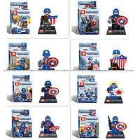 classic toys 8 mini-figures Superhero Captain America Assembly Building Blocks Kids Toy 2014 NEW