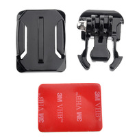 Gopro Helmet Curved Surface & Mount Black + 3M VHB Sticker for GoPro HD Hero3 2 1( Black ) Free shipping