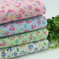 40cm*50cm 4 color Tiny rose patchwork quilting textile material,100% cotton Fabric set for sewing 8pcs/lot Freeshipping