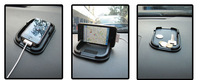2014 free shipping black car dashboard gauze pad mat anti skid small mobile phone GPS holder indoor items accessories