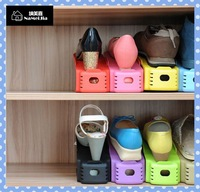 [Amy] free shipping 4pcs/lot Creative home receive shoe rack/Double simple plastic shoe rack  high quality on Amy shop