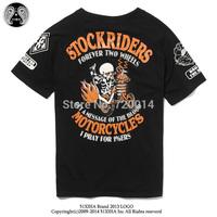 t-shirt fashion 2014 men famous brand tee clothing Japanese hip hop men's Harajuku punk rockers skeletons loose short sleeve