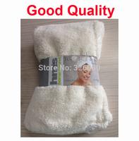 100pcs/lot Hair dry towel cap quick dry microfibre hair towel mixed color good quality