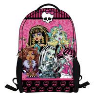 Wholesale  monster high frozen cartoon pattern children school bags for boys girls kids backpack children backpacks,HR140728
