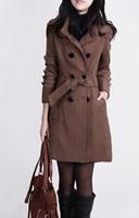 2013 autumn and winter slim plus size woolen outerwear mm medium-long overcoat women's