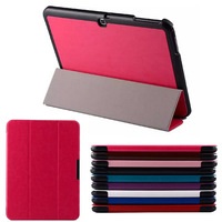 DHL Free Luxury Tablet Cover For Samsung Galaxy Tab 4 10.1 T530 Tablet PU Crazy Horse Leather Flip Case PINK BROWN BLACk