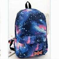 2014 New Fashion starry sky student school bags Canvas the New GALAXY collection Printing mochila Free shipping