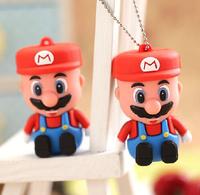 Genuine Cartoon Super mario  8GB 16GB 32GB USB 2.0 Memory Disk Pen Drive Thumb/drive/gift pendrive Free Shipping Hot Sale