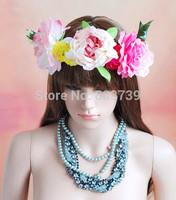 Wreaths For Hair/Back to school Artificial Flower Headband Garland /Party Head Wreath/Decorative Flower Wreaths/Bridal Garland