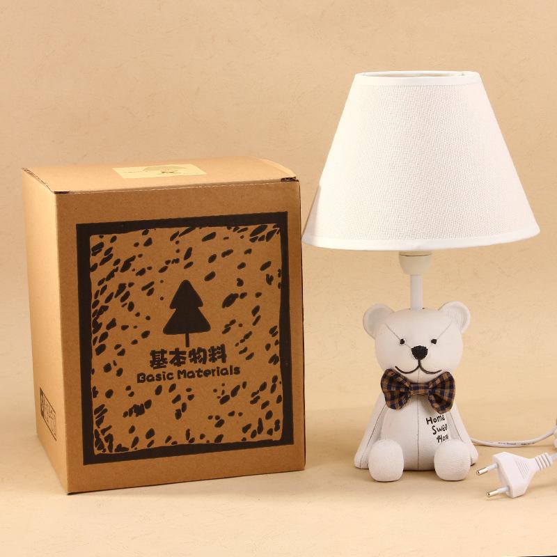 Children's eye saving lamps tie Bear cartoon mini table lamp bedroom lamp creative hot buy 1215(China (Mainland))