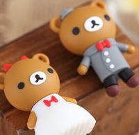 64GB 8GB 16GB 32GB Plate Wedding Dress Bear Pen Driver Cartoon Usb 2.0 Usb Flash Drive Mini Gift Pendrive Free Shipping