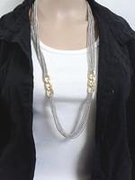 Popular Women Fashion Elegant Jewelry Silver Multilayer Long Body Chain Tassel Sweater Necklace