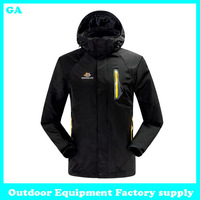 Dropshipping High Quality 2014 NEW Outdoor Climbing Fashion Two-piece Sports Coat Winter Waterproof breathable ski jacket men