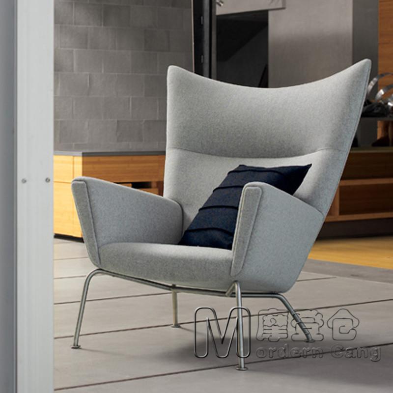 Online kopen wholesale moderne vleugel stoelen uit china moderne vleugel stoelen groothandel - Moderne fauteuil ...
