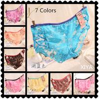 D003 Free Shipping Hot New 6 PCS/lot Sexy Seamless Women's Panties Mesh Ventilation Rose Flower Fitness Briefs Girl's Underwear