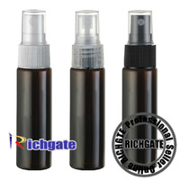 30ml Dark Brown / Black Atomizer PET Bottles Protect from Light Spray Lotion Container Organizer 3 Color Pump Sprayers Caps EMS