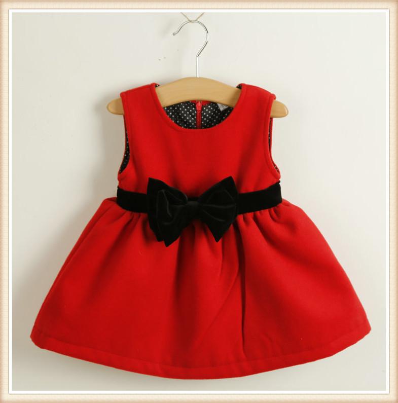 Winter new baby girls font b christmas b font red font b dresses jpg